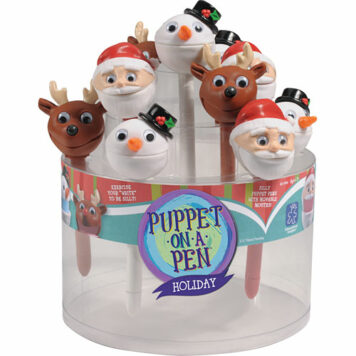 Holiday Puppet-On-A-Pen Counter Display (24 Units)