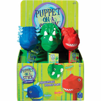 Dinosaur Puppet-On-A-Stick Counter Display (9 Units)