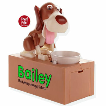Bailey The Money-Hungry Mutt Animatronic Bank