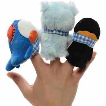 Brrr! Buddies Finger Puppets (3 styles, 4 pcs each)