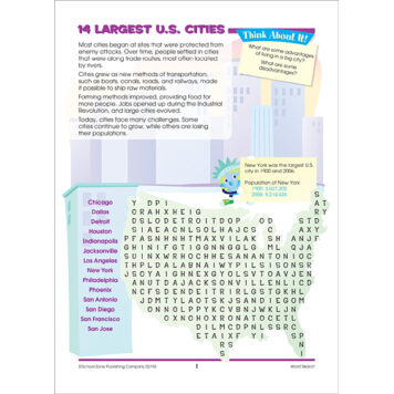 Word Search People & Places Activity Zone Workbook