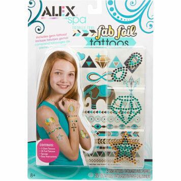 ALEX Spa Fab Foil Tattoos-Totally Teal