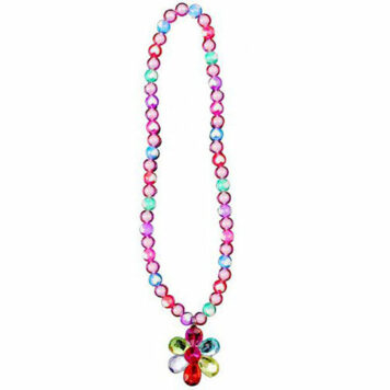 Flower Gem Bead Necklace