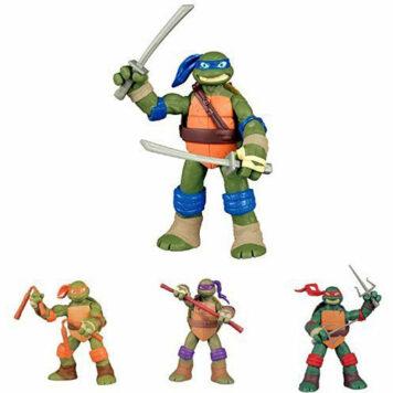 Teenage Mutant Ninja Turtles New Deco Figures Bundle - Donatello, Raphael, Michelangelo and Leonardo