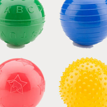 """4"""" Playtime Assorted Play Ball - 50 Count"""