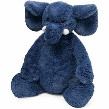 Jellycat Bashful Blue Elephant, Medium - 12 inches