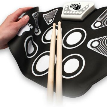 Rock And Roll It - Drum Flexible, Completely Portable, battery OR USB powered, 2 Drum Sticks + Bass Drum & Hi hat pedal included