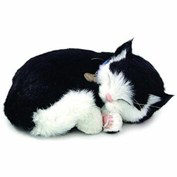 Perfect Petzzz Black and White Shorthair Kitten Plush