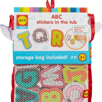 ALEX Bath ABC Stickers in the Tub
