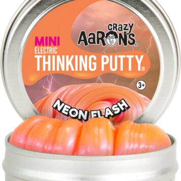 """Crazy Aaron's Neon Flash Electric Thinking Putty 2"""" Tin"""