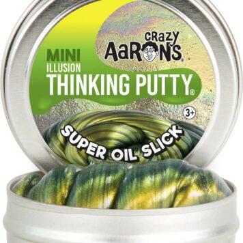"""Crazy Aaron's Super Oil Slick Illusion Thinking Putty 2"""" Tin"""