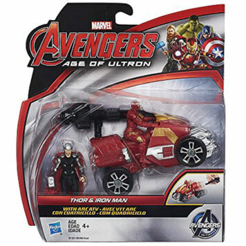 Marvel Avengers Age of Ultron Thor and Iron Man 2.5-Inch Figures with Arc ATV Vehicle