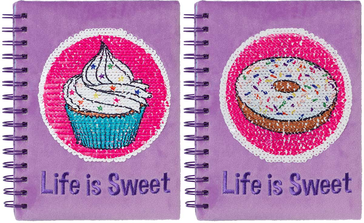 Cupcake Magic Sequin Journal