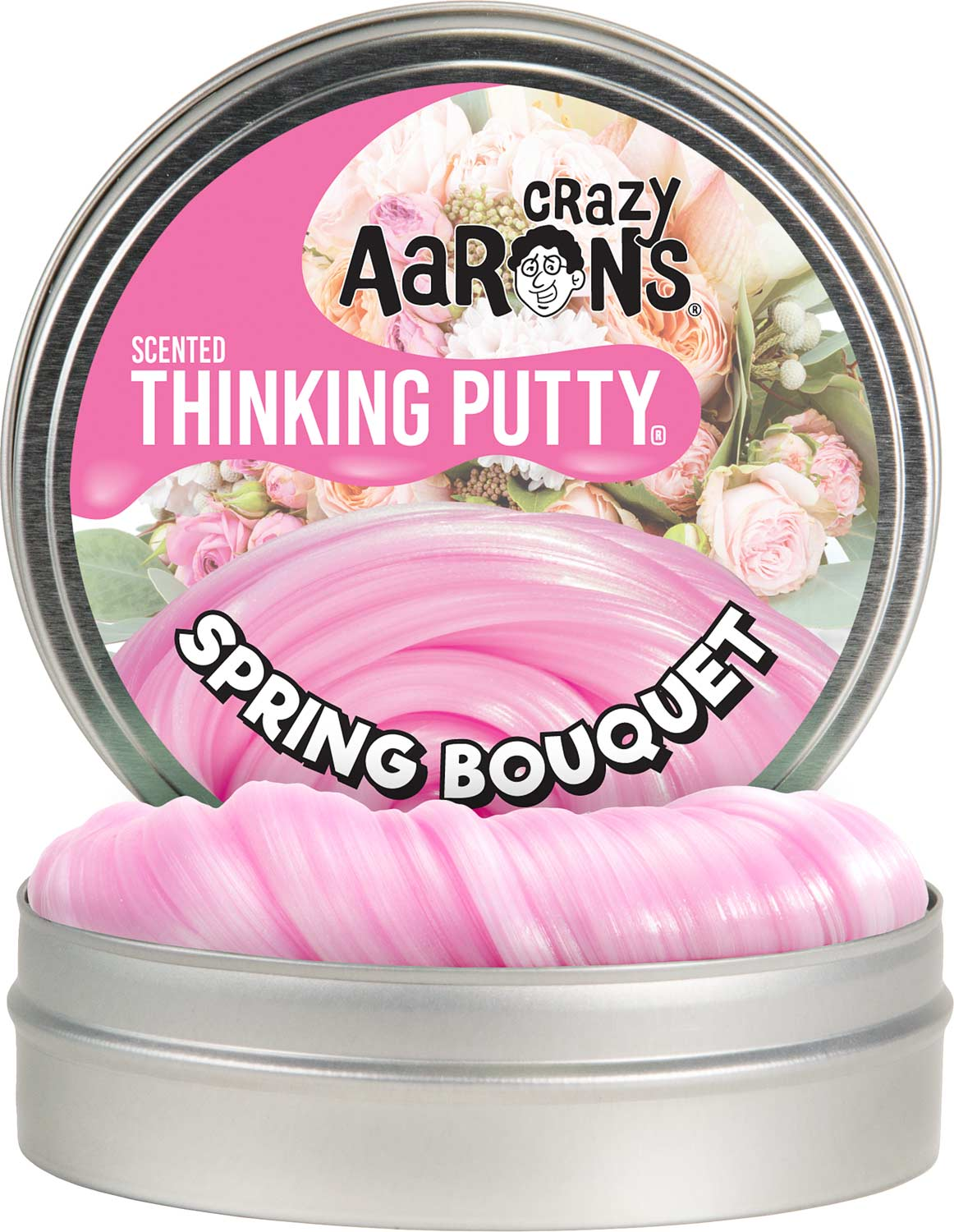 """Crazy Aaron's Spring Bouquet Scented Thinking Putty 4"""" Tin"""