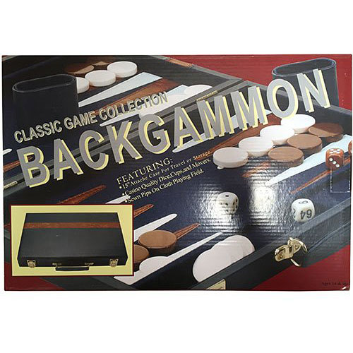 "15"" Vinyl Backgammon Set Board Game"
